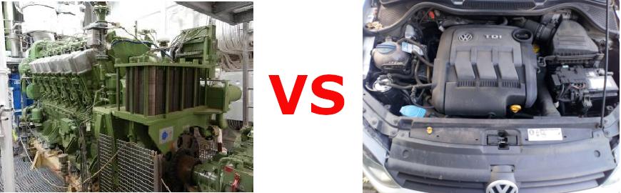 Diesel marin vs Diesel autmobile