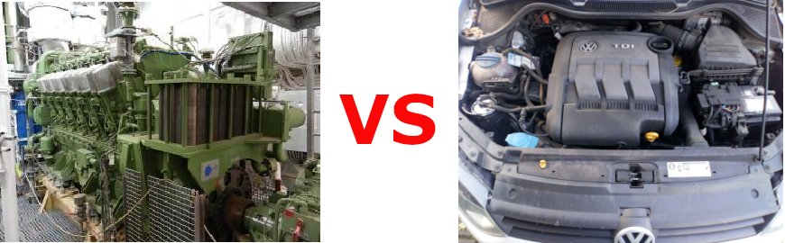 The 9 major differences between marine and automotive Diesel engines