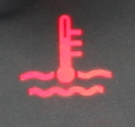 Car temperature symbol